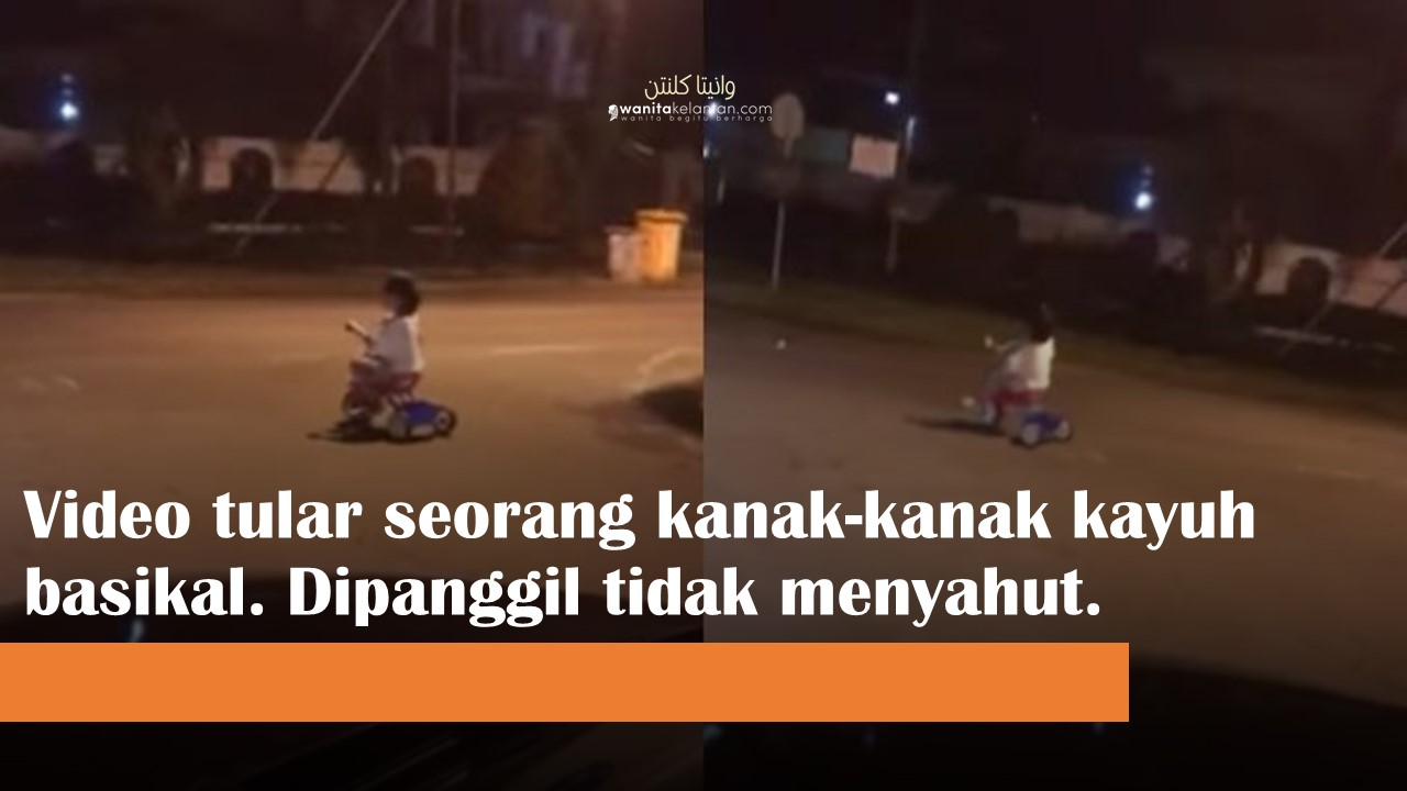 Video Tular Jumpa Kanak-kanak Menaiki Basikal Pada Jam 3 Pagi Mendapat Perhatian Netizen